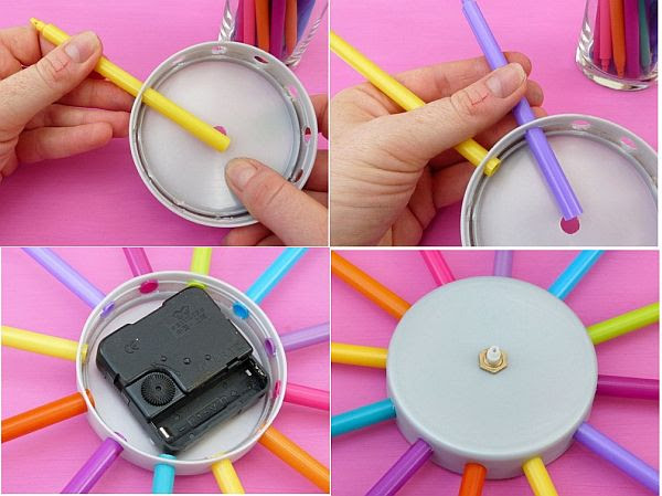 Cute DIY Colorful Wall Clock