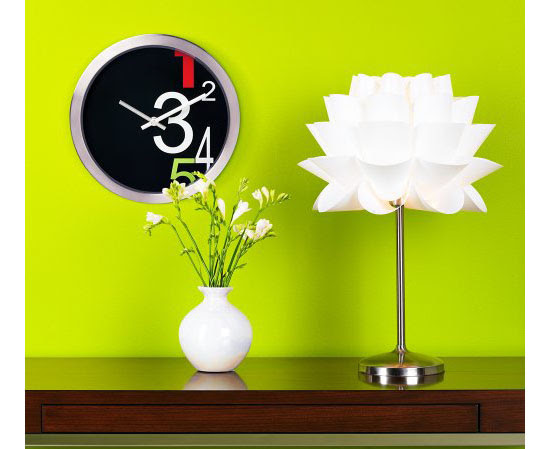 Possini Euro Design White Flower Acrylic Shade Table Lamp For A Warm