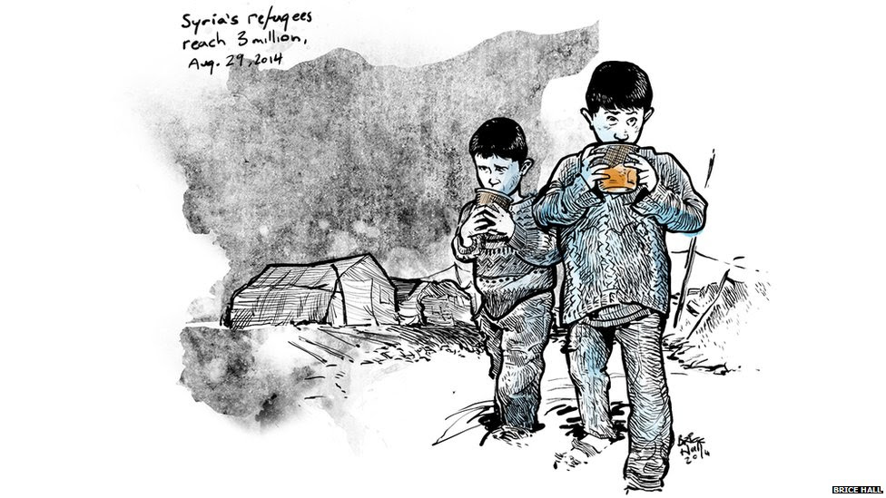 Syria's refugees by Brice Hall