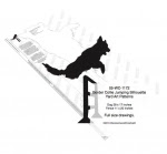 Border Collie Jumping Silhouette Yard Art Woodworking Plan - fee plans from WoodworkersWorkshop® Online Store - Border Collies,silhouettes,dogs,pets,animals,yard art,painting wood crafts,scrollsawing patterns,drawings,plywood,plywoodworking plans,woodworkers projects,workshop blueprints