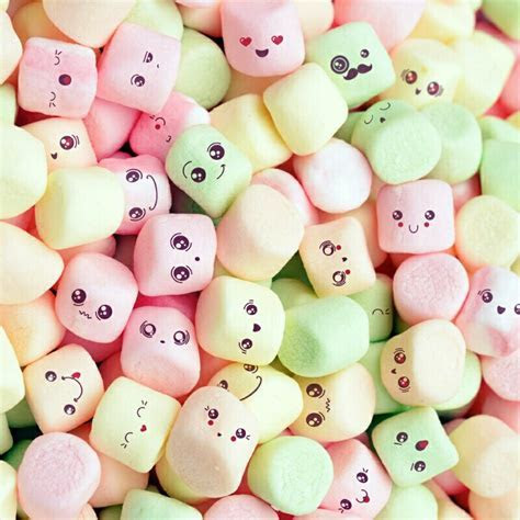 Cute marshmallow   wallpaper   Pinterest   Marshmallow