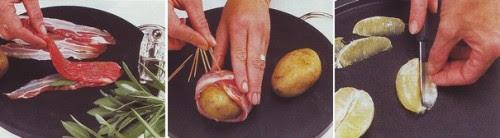 Saltimbocca di patate,saltinbocca di patate e carne,patate,pancetta affumicata,salvia,panna,ricette di cucina,ricette,