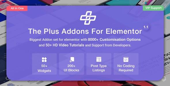 The Plus v2.0.5 - Addon for Elementor
