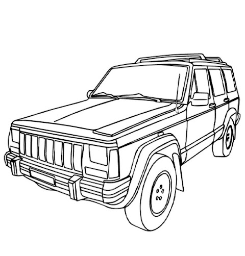 Cool Jeep Coloring Pages