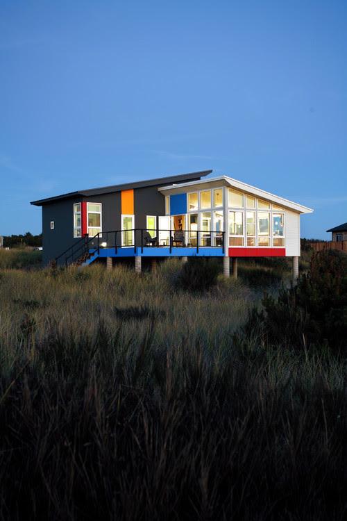 Modern and bright beach house