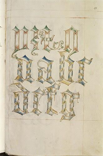 A scroll alphabet. a
