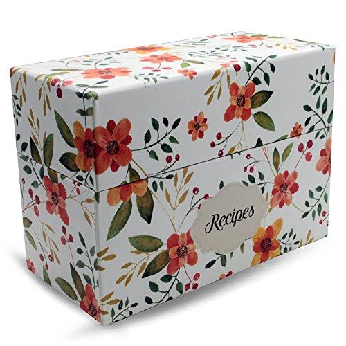Vintage-Look Recipe Box Set With 50 Recipe Cards & 10 ...