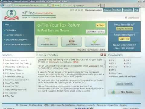 VIDEO LINK UPDATED - E- filling of Income Tax Returns 2019