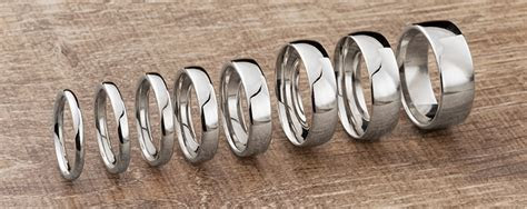 Mens Wedding Rings   Popular Widths Shown on the Finger
