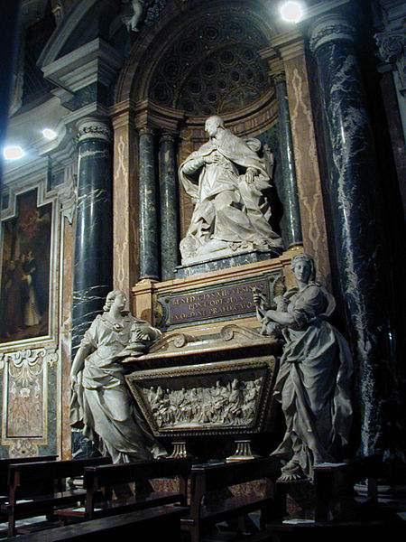The tomb of Pope Benedict XIII