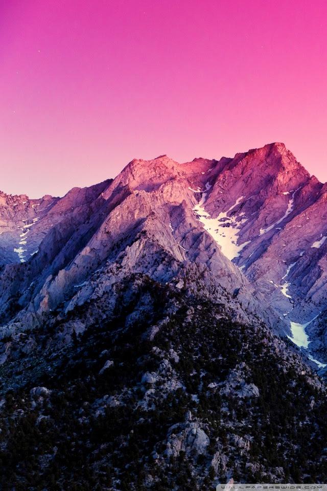 Apple Pink Mountain Wallpaper