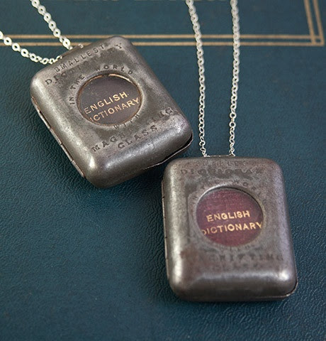 World's Smallest Dictionary Necklaces
