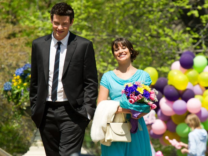 Cory Monteith's death comes as Fox's 'Glee' is set to resume shooting in a few weeks. The show's situation isn't unique. Here are other stars who died during the run of their shows: | In this photo, Lea Michele and Monteith film a scene for 'Glee.'