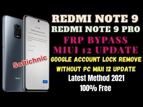 Redmi note 9 frp bypass