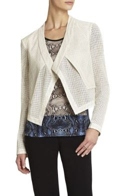BCBGMAXAZRIA Luke Perforated Cropped Jacket