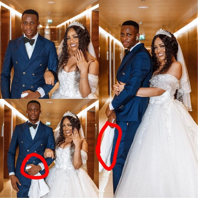 See What People Noticed From The Wedding Pictures Of Nengi And The Towel Guy From A Comedy Skit