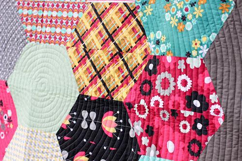 Nordika Color Hex Quilt by Jeni Baker