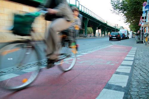 Fahrradweg auf der Schönhauser Allee