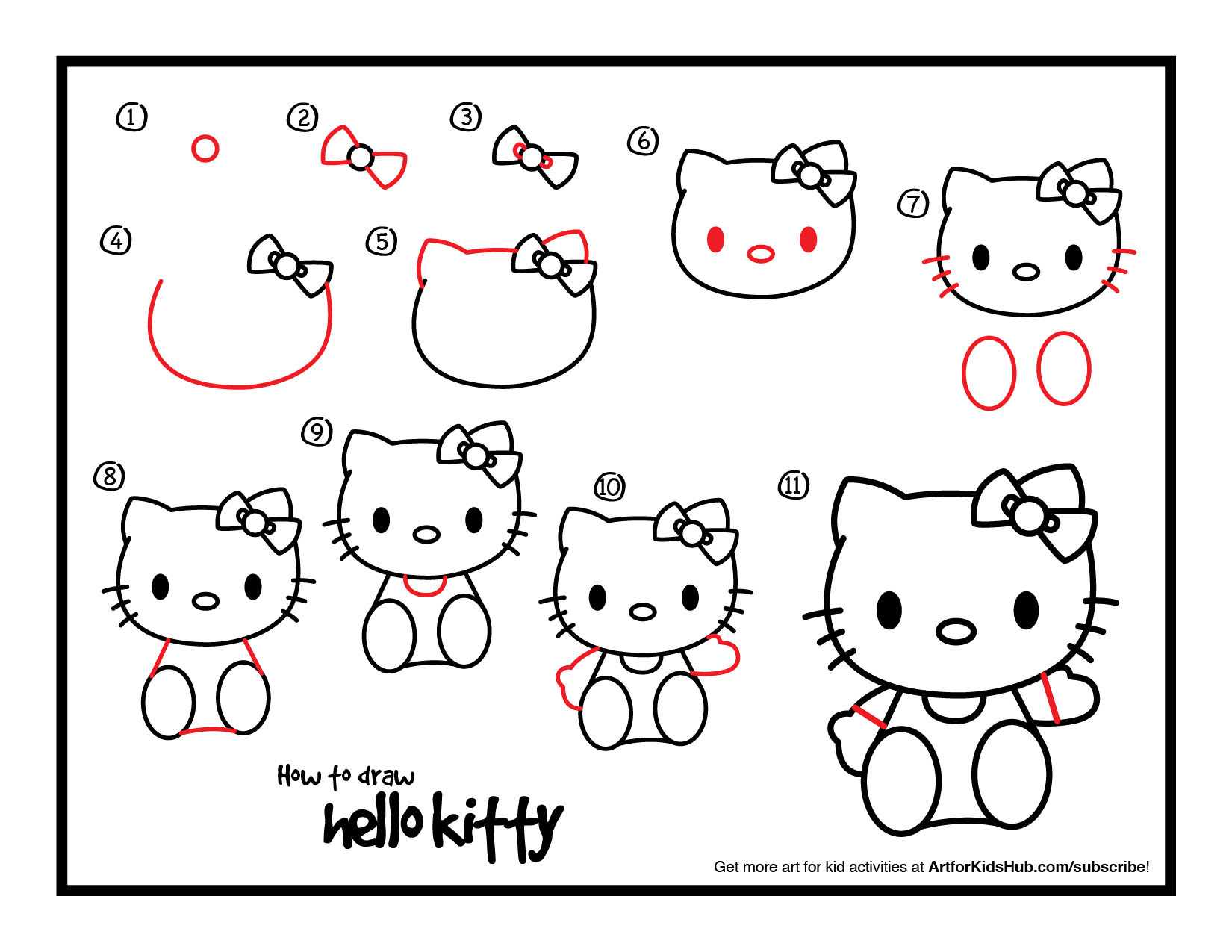 Hello Kitty Drawing At Getdrawings Com Free For Personal Use Hello