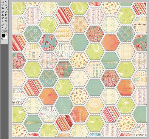 cosmo cricket filled hexagon papers