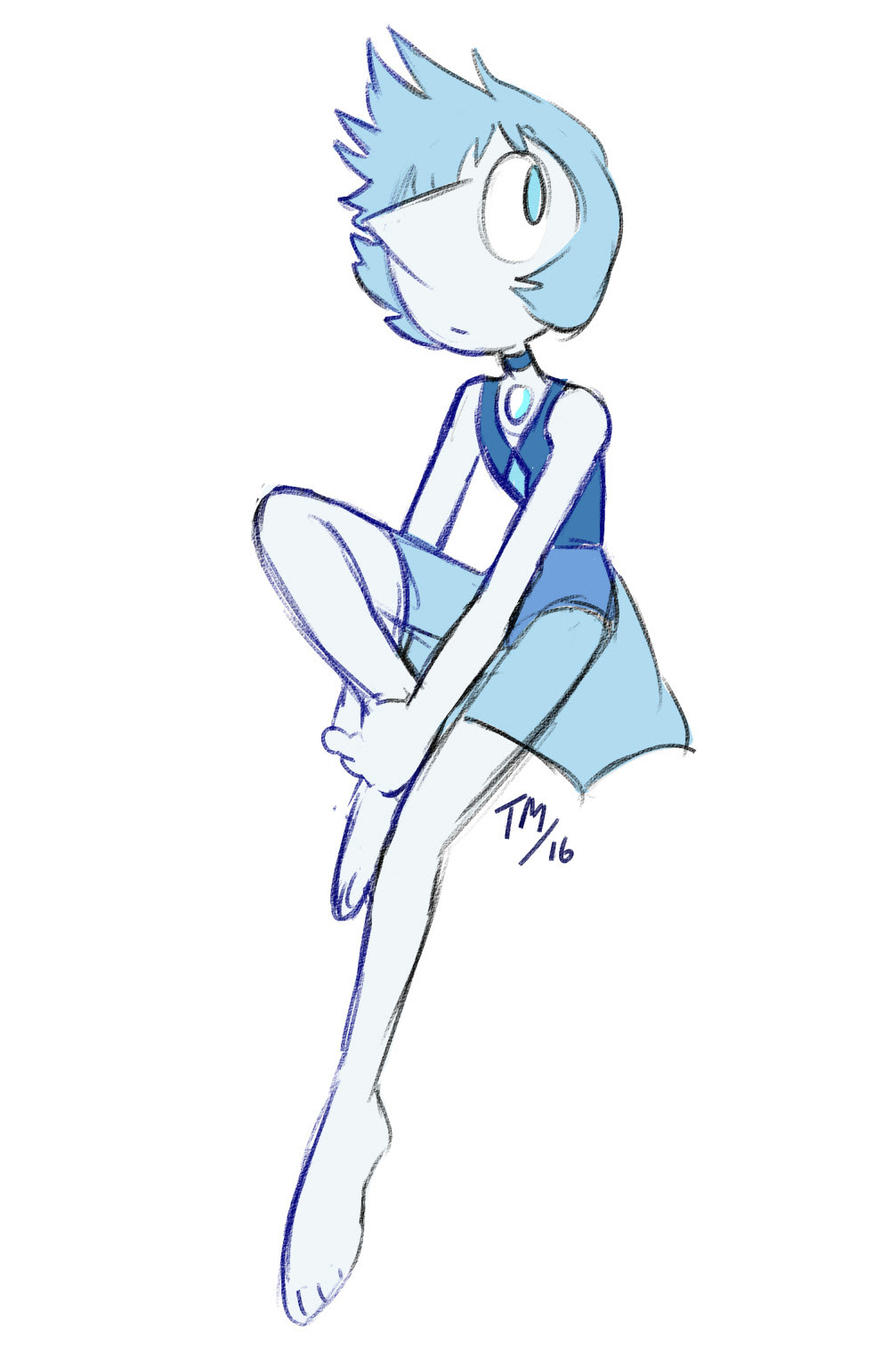 here's a drawing of my pearl oc!