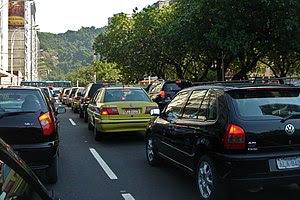 Traffic congestion, Rio de Janeiro(Leme), Brazil