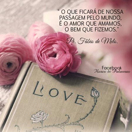 O Que Ficará De Nossa Passagem Pelo Mundo é O Amor Que Amamos O