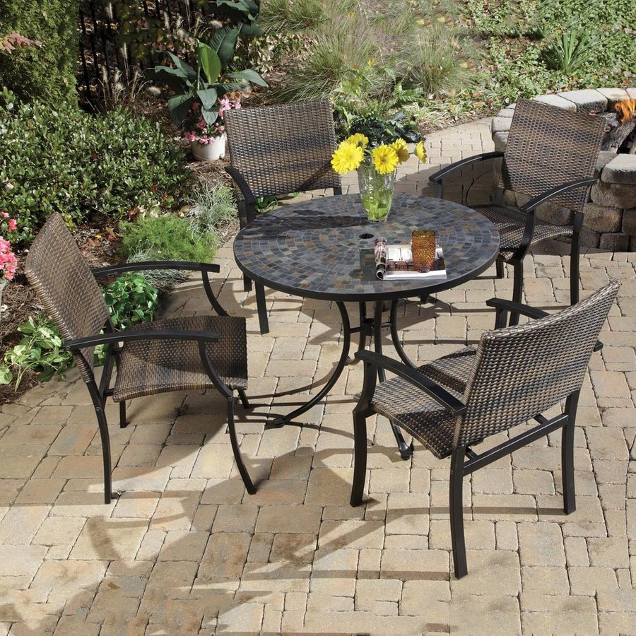 Shop Home Styles Stone Harbor 5-Piece Slate Stone Patio ...