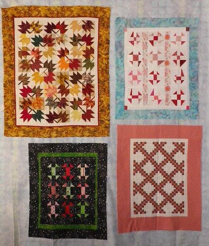 4 little quilts