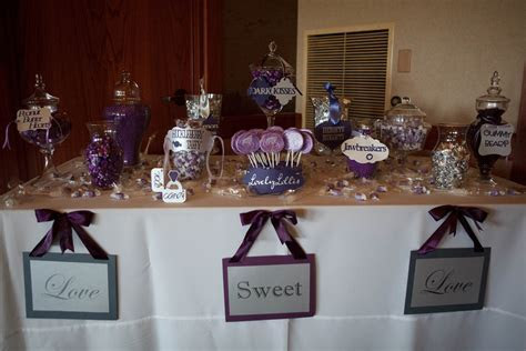Candy Table Signs Wedding Favors Platypus Papers