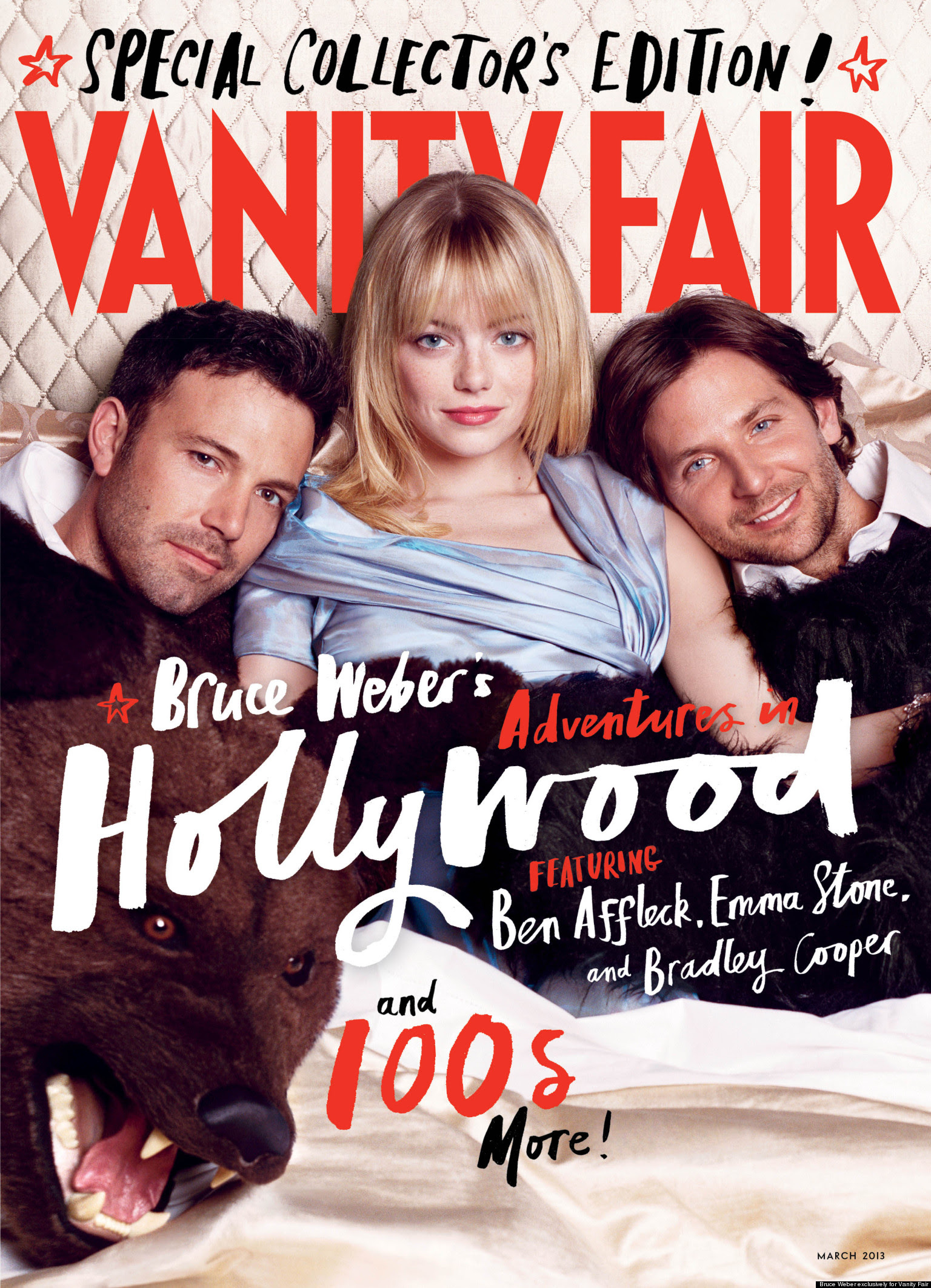 Vanity Fair Hollywood Issue Gets Emma Stone In Bed With Ben ...
