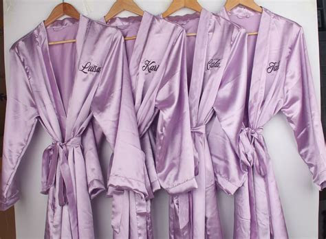 Pack of 5 Purple Custom Bridesmaid Monogrammed Robes