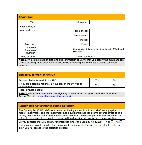 11 Fire Service Application Form Templates To Download