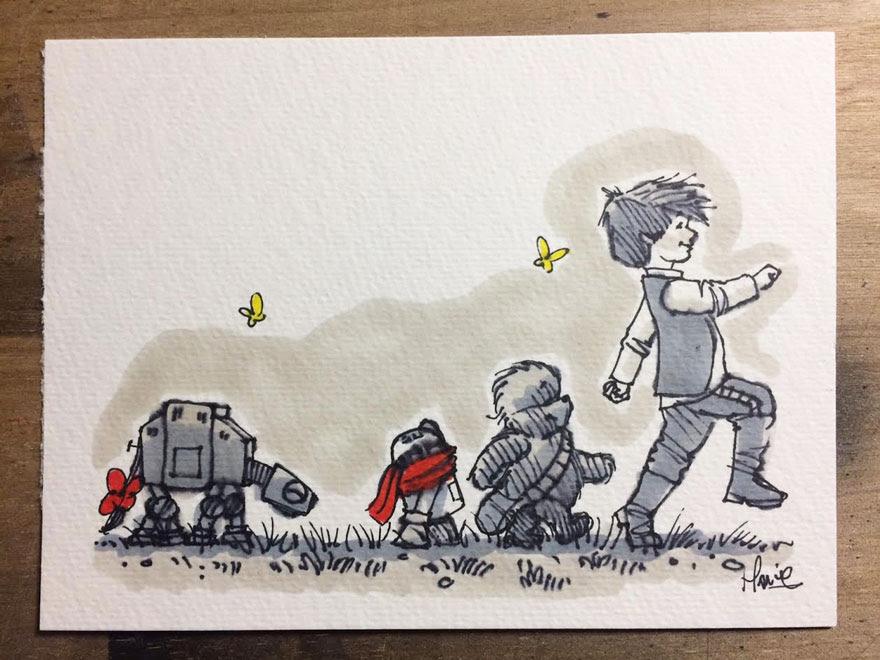 dibujos-mezcla-winnie-pooh-guerra-galaxias-james-hance (13)