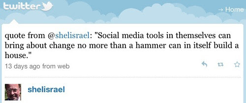 Social media is like a hammer is a tool...