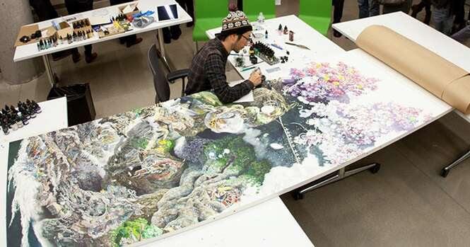 Artista japonês trabalha 10 horas por dia durante 3,5 anos para criar linda arte