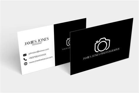 Free BW Minimal Business Card   Creativetacos