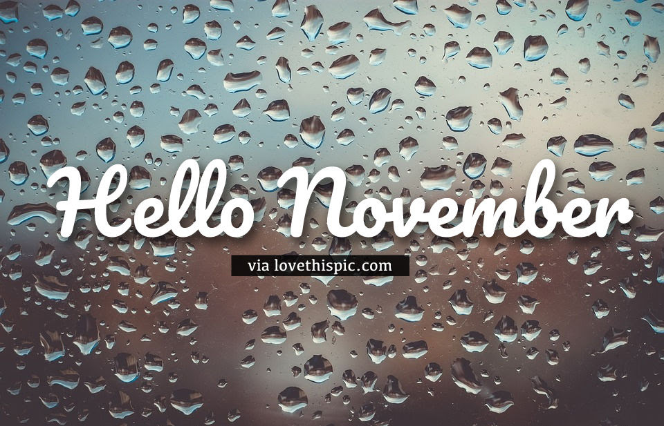 Water Drops Hello November Quote Pictures Photos And Images For