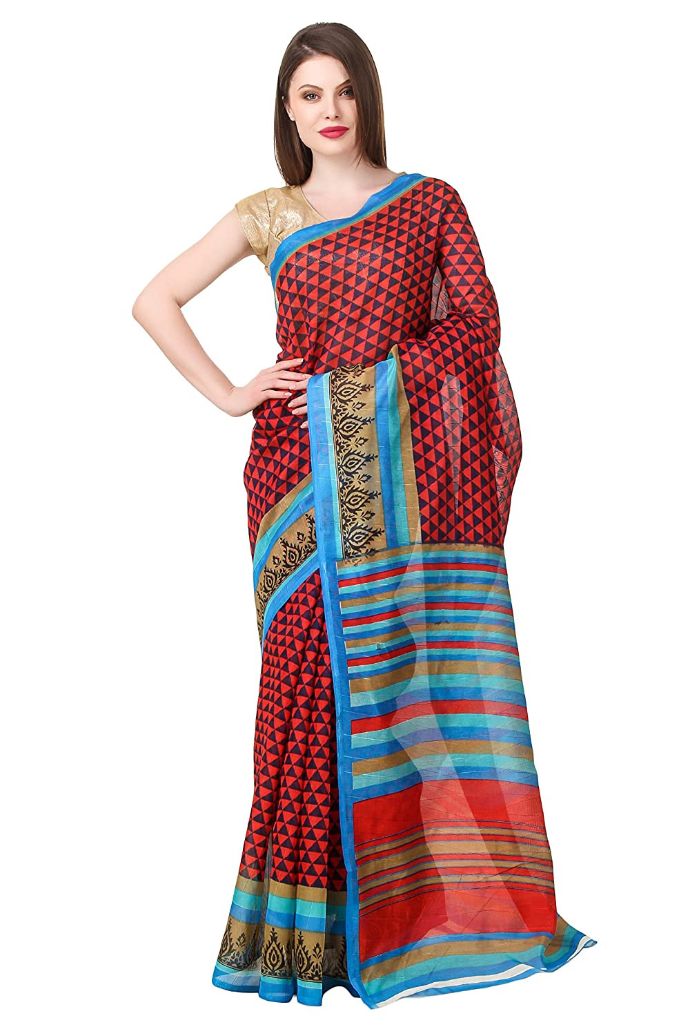 Binny Creation Women's Cotton Saree