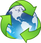 Crystal earth recycle icon