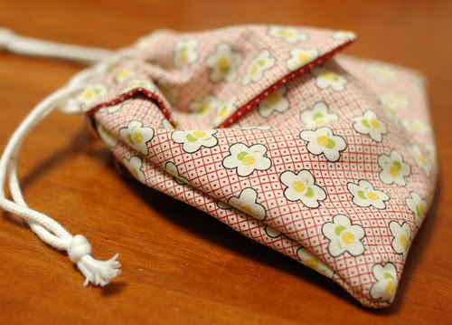 Origami drawstring bag