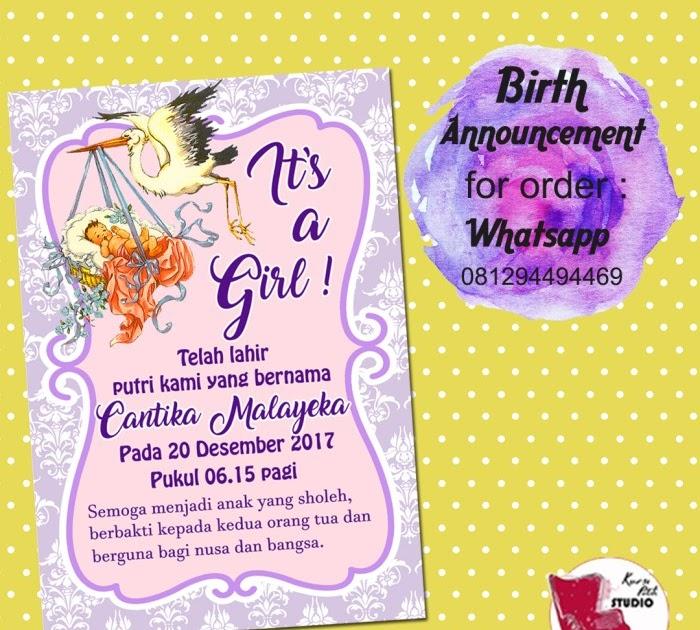 Kumpulan Contoh Desain Kartu Nama Bayi Baru Lahir Unik ...