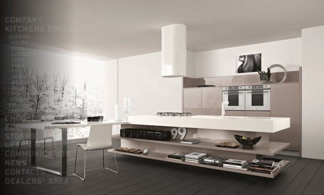 Taupe white kitchen