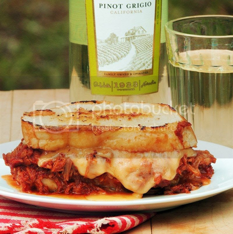 BBQ Pulled Pork and Smoked Gouda Grilled Cheese from Bobbi's Kozy Kitchen