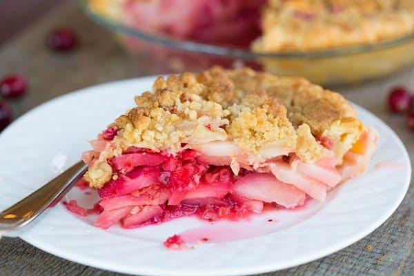 Cranberry-Ginger Pear Pie by @browneyedbaker :: www.browneyedbaker.com
