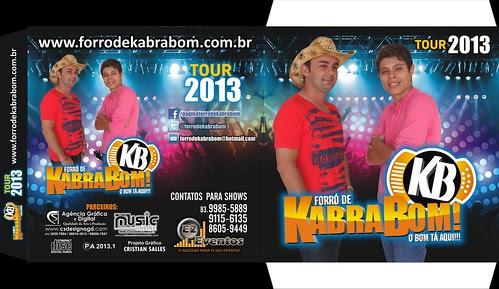 Capa - FORRÓ DE KABRA BOM - Tour 2013 Pronta 100% by csdesignagd
