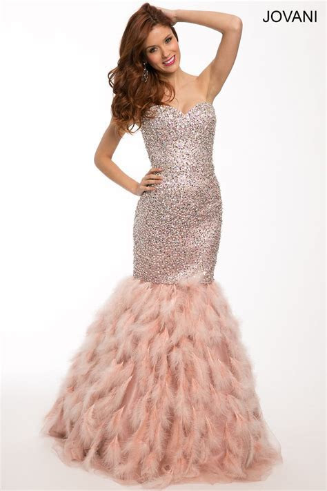 Pink Strapless Mermaid Dress by Jovani Style #92526   Prom