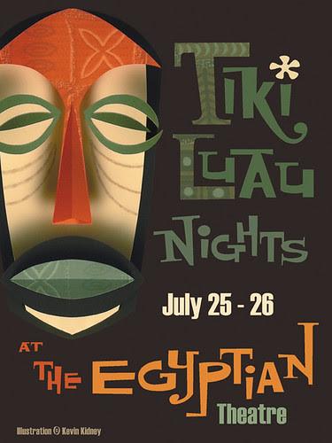 2008 Tiki Luau at the Egyptian Poster - Kevin Kidney