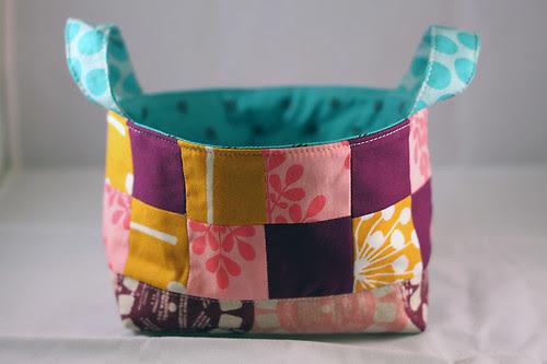 Pink Penguin Patchwork Basket