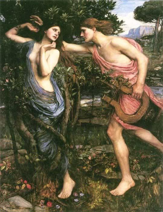 Apollo and Daphne by John William Waterhouse 1908